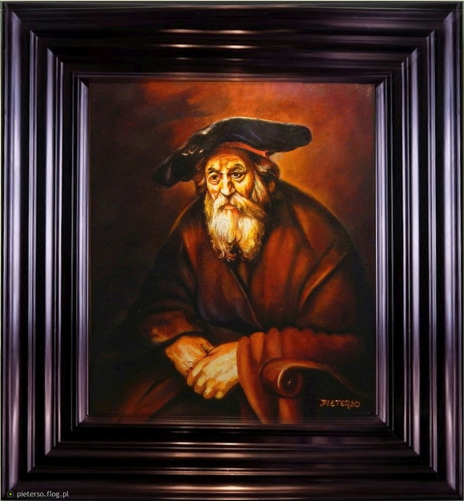 Moja skromna kopia geniusza Rembrandta ''Portrait of an Old Jew''