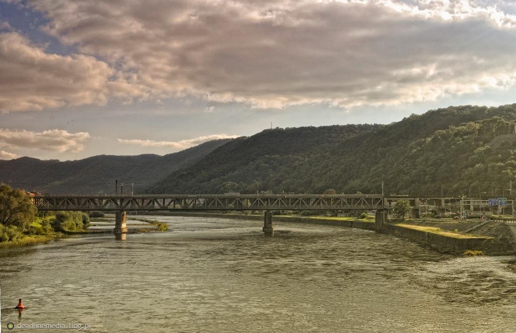 Usti nad Labem - most kolejowy na Łabie
