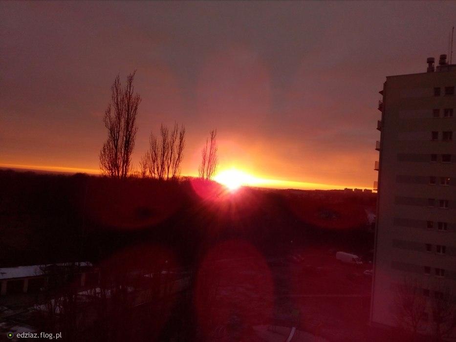 Piękny zachód słońca :)