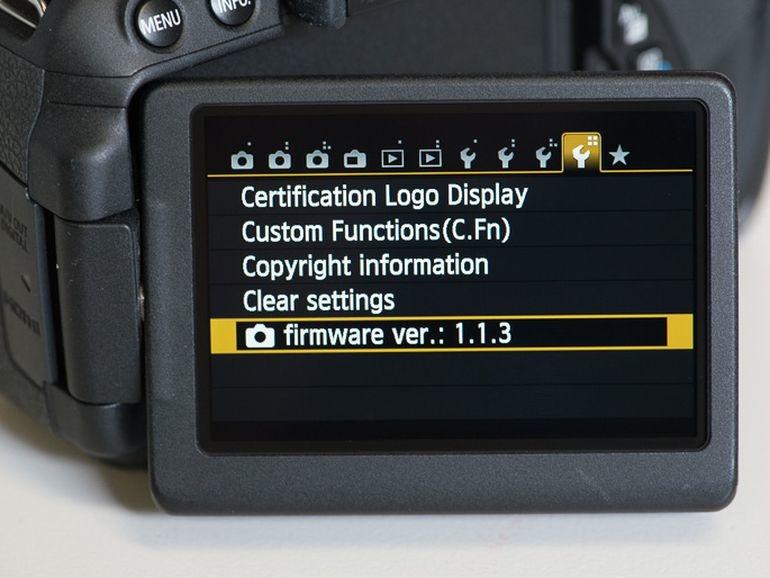 Aktualizacja firmware dla aparatów Canon