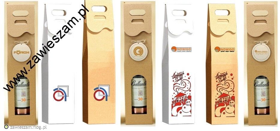 Pudełka do wina z logo
