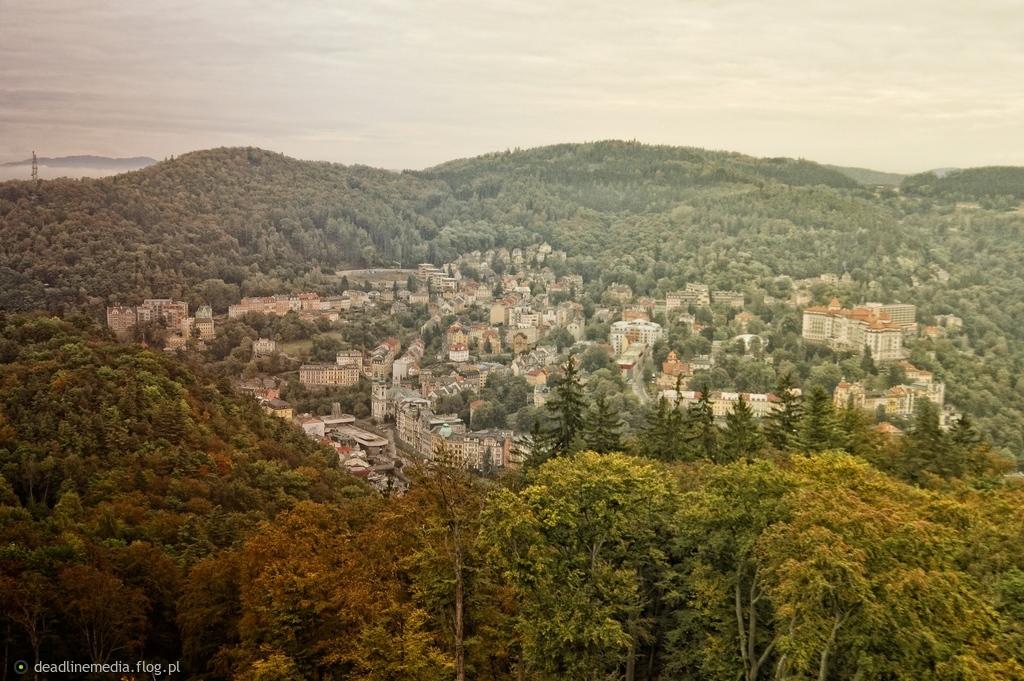 Karlovy Vary - Panorama części uzdrowiskowej