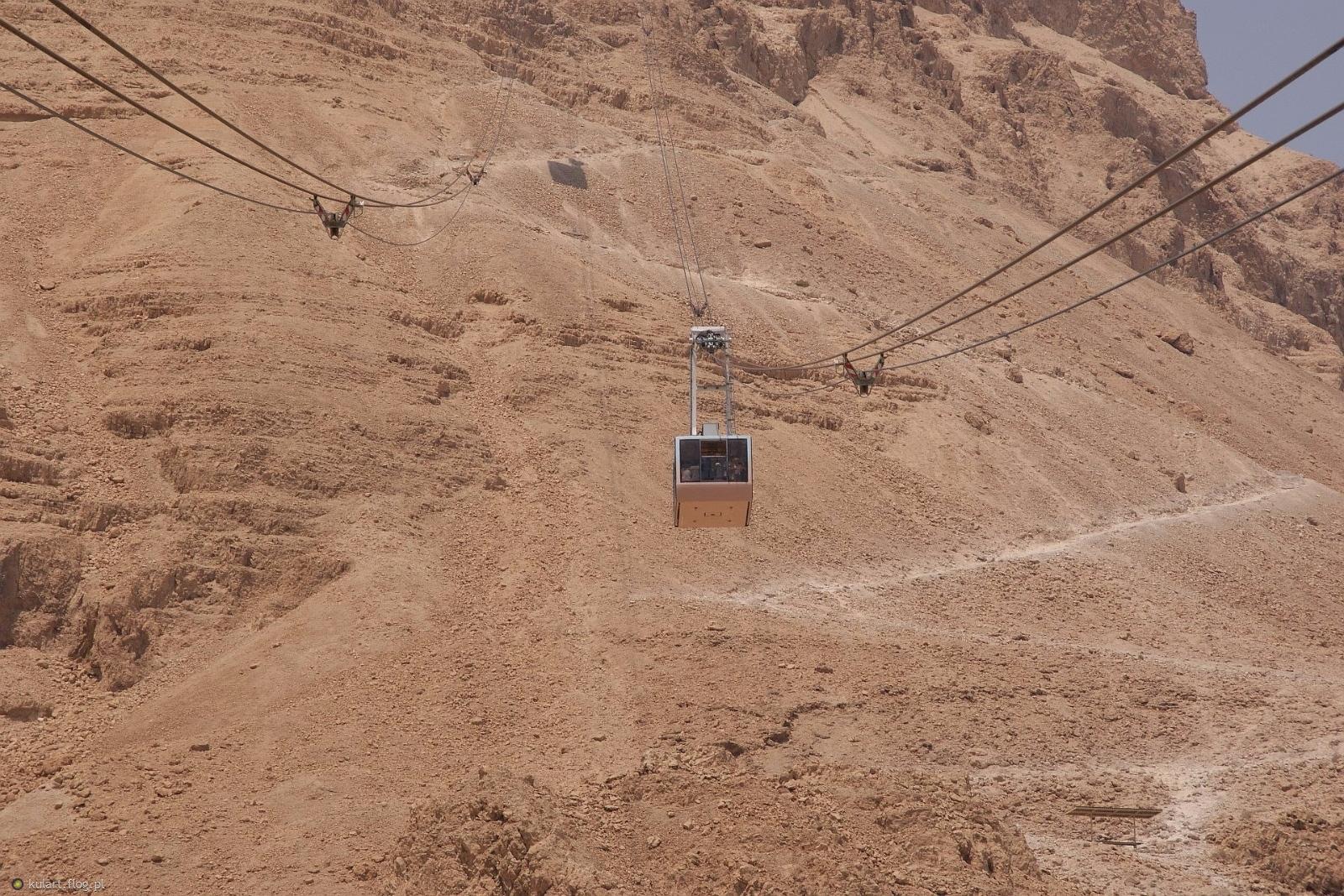 Kolej Linowa na Masadę (Izrael) - 2013 r.